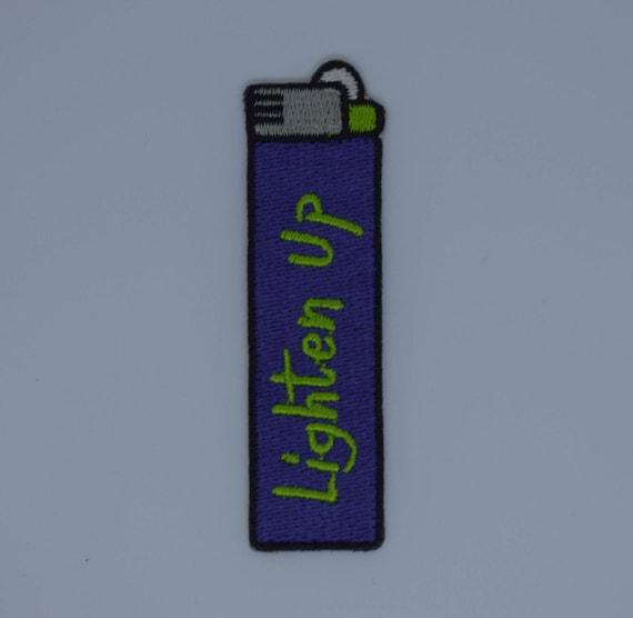 Lighten Up Lighter Iron on Patch