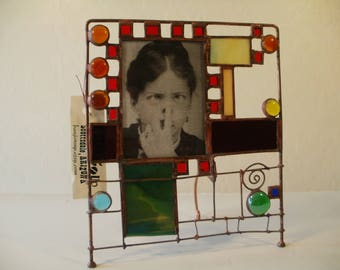 Rolled Edge Stained Glass Picture Frame
