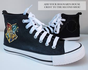 Harry Potter Hogwarts Hand-Painted Converse-Style Shoes