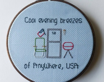 Cool evening breezes of AnyWhere, USA Cross Stitch