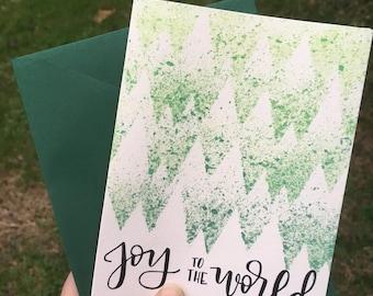 Joy to the World Christmas Greeting Card