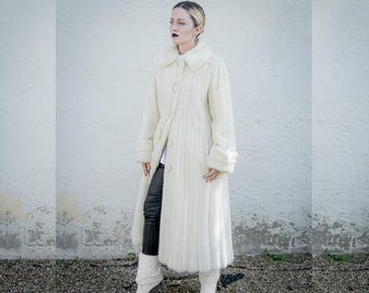 Stunning Vintage 50s 60s Christian Dior Full Length Blonde Mink Fur Coat Size 10 FREE SHIPPING USA