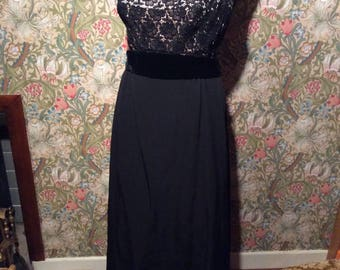 Vintage: Early 60s black evening dress