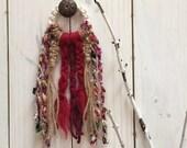 Macrame Sari Silk Door Decoration, Sari Silk Macrame Door Hanger, Boho Macrame, Macrame Door Hanger, Macrame Door Decoration, Hippie Decor