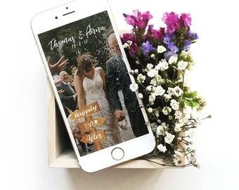 Wooden Sign Geofilter, Rustic Wedding Geofilter, Wedding Geofilter, Wedding Snapchat Geofilter, Custom Geofilter, Snapchat Filter