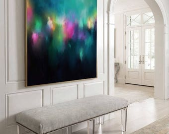 "VERY Large Abstract Painting, Colorful Abstract Wall Art, Original Painting by Corinne Melanie ""Samui III"""