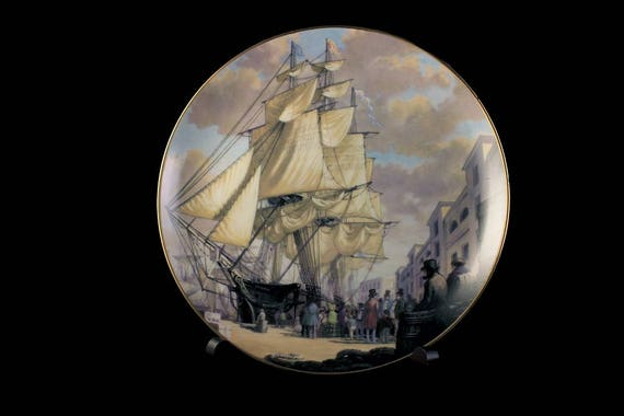 1981 Collectible Plate, Oriental, The Great Clipper Ships Collection, Limited Edition, Decorative Plate, Wall Decor, Franklin Mint