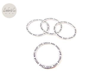 8 rings necklace 36mm silver plated love dream hop trust connector cn2-97