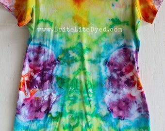 Tie Dye Dress - Womens LARGE/XL - Tye Dye Dress-  Summer Dress  - Tie Dye - Tye Dye - Festival Dress  - Hippie Dress - Bathing Suit Cover Up