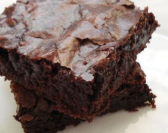 16 oz chocolate browines, fudgy brownies, brownies, chewy brownies