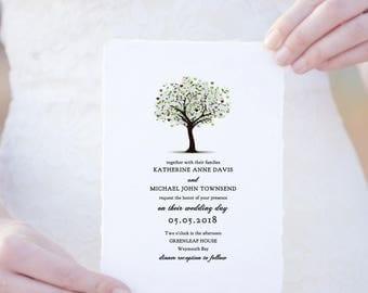 Shop for tree wedding invite on Etsy