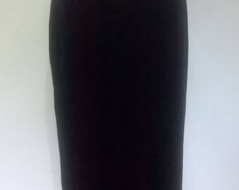 Vintage velvet skirt by St Michael black velvet maxi skirt size small