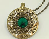 Pendant necklace/Christmas gift/Green gift for wife/gift-for-woman/Game of Thrones/Victorian necklace/Downton Abbey/Amulet Necklace/gift for