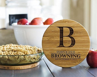 Personalized Solid Bamboo Trivets - 1 Trivet