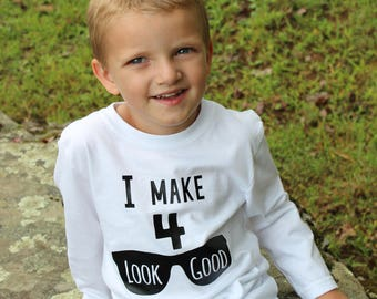4th Birthday Shirt - Fourth Birthday Shirt - Fourth Birthday Boy - Four Birthday Shirt - Four Year Old - Birthday Shirts For Boys