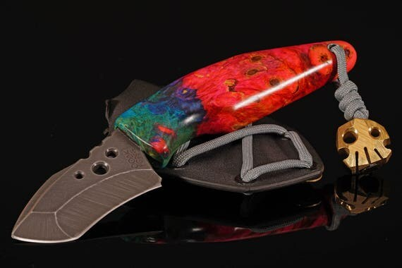 Dyed Buckeye Burl Swift Series Knife