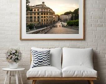 "Architecture Photography, Large Wall Art Print, Italy Photography, Fine Art Print, Rome Art Print, ""Atop Campidoglio"""