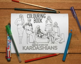 Keeping Up with the Kardashians colouring book