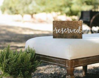 Reserved Wedding Sign, Wood Reserved Sign