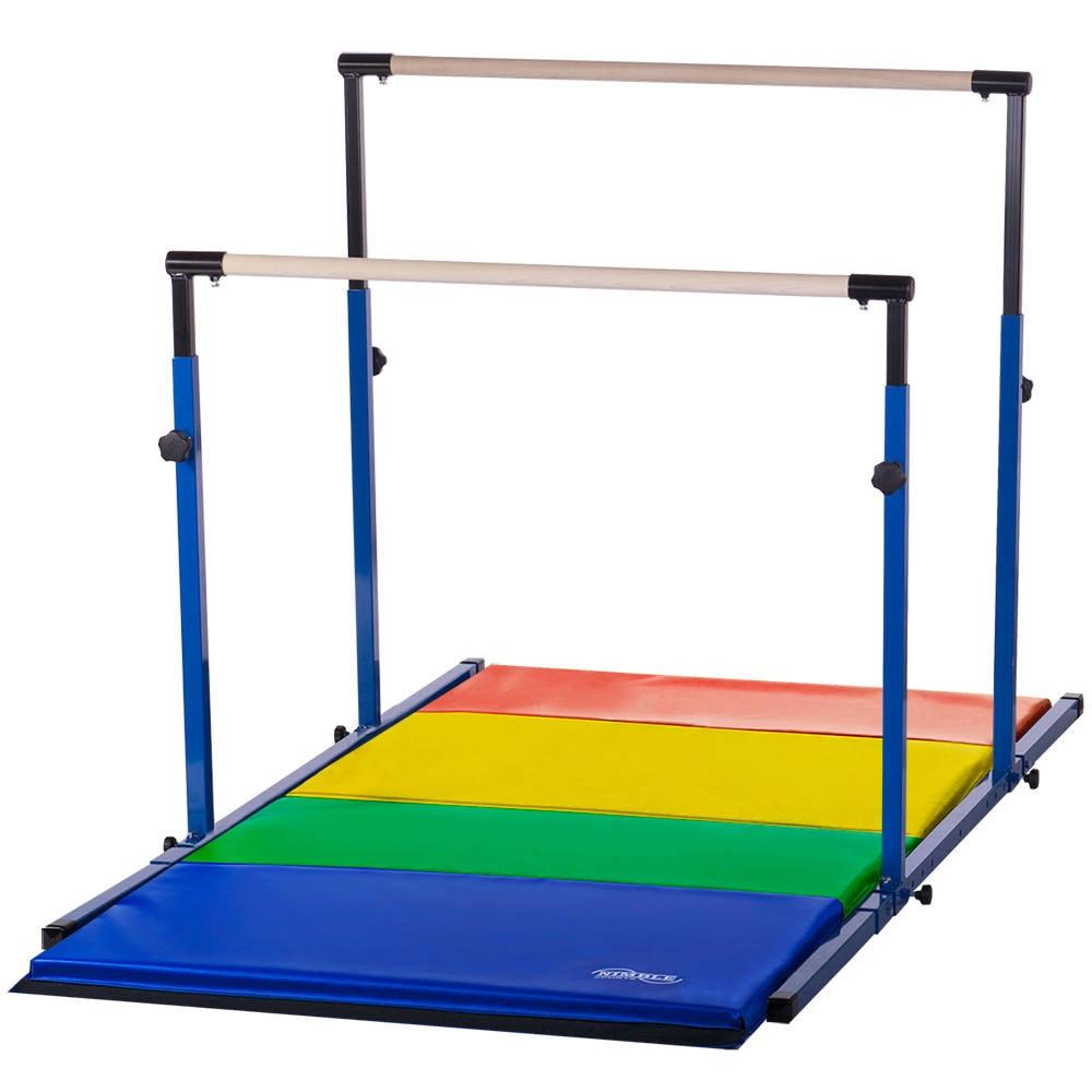 Blue Rainbow Adjustable 3play Gymnastics Uneven Bars