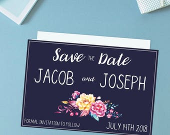 Vibrant Save the Date