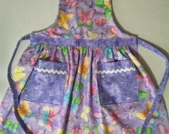 Girls Apron Butterfly Apron with Pockets Girls Apron Spring