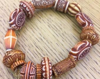 Orange Tiki Bracelet
