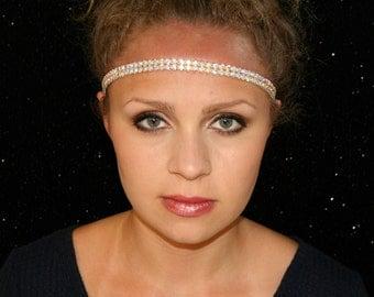 Twinkling Headband - Aurora Borealis Headband - AB Crystal Headband - Rhinestone Headband - Elastic Headband - Woman Headband Shiny Headband