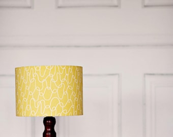 Lampshade, Scandinavian lamp, Yellow lamp shade, mustard home decor, retro decor, bedroom lighting, light shade, lamp shade, retro lampshade