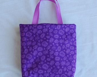 Science Fabric Gift Bag/ Party Favor Bag- Microbiology- Germs and Amoebas on Purple