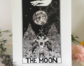 Tarot Card Print • 'The Moon' • by Madison Ross •