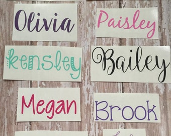 Any Word Decal | Personalized Name Decal | Various Font Decals | Customized Decal | Word Vinyl Decal | Word Decals |* READ ITEM DESCRIPTION*