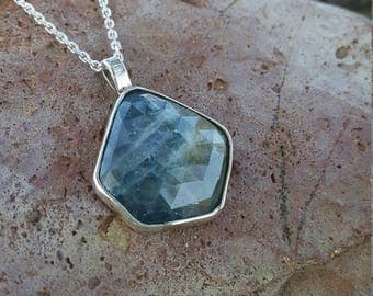 Blue Sapphire Necklace Natural & Handmade