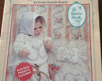 Victorian Embroidery for Babies, heirloom sewing, vintage embroidery,  embroidered baby pillows, embroidered baby bonnet