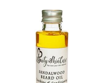 Sandalwood Beard Oil, beard oil kit, beard care, beard conditioner, beard grooming oil, gift for him, boyfriend gift  (50ml)