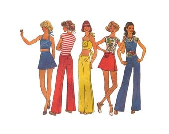 Simplicity 7495, 70s Sewing Pattern, Size 13/14-15/16 Teen Girl's Halter TOp