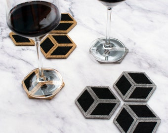 Cube Mini Coasters - Different Colors - set of 4