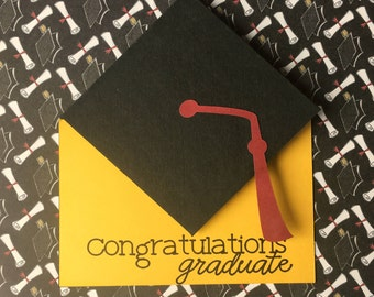 Graduation Card, Handmade Graduation Card, Money Holder Graduation, Gift Card Holder, Custom Graduation