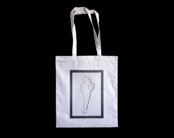 White Cotton Tote Bag - Cult/Queer Cinema Tote - 'To Wong Foo, Thanks For Everything! Julie Newmar'(1995) w/ Patrick Swayze, Wesley Snipes
