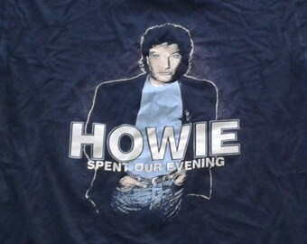 "Vintage 80's Howie Mandel ""Howie Spent our Evening"" Stand Up Comedy Tour t-shirt XL Made in USA"