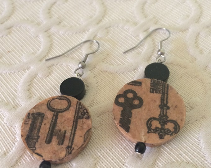 SALE! - Locksmith Champagne Cork Earring