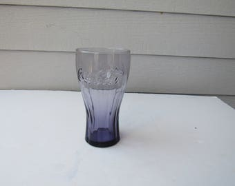Vintage Coca-Cola Purple Amethyst Fountain Beverage Glass   2165