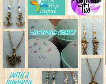 Mermaid Treasure Bomb with Jewelry Inside!