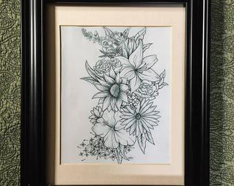Flower wall art DIGITAL PRINT