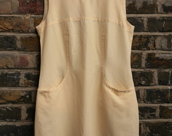 Vintage lemon yellow shift dress 1960 size 10 small