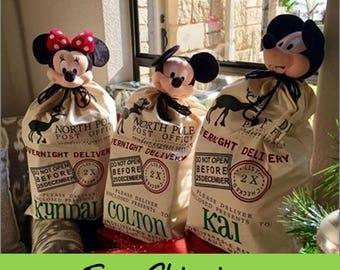Personalized Santa Sack - Custom Santa Bag - Santa Sack - North Pole Delivery - Personalized Christmas Bag - Santa Canvas Bag - XL Gift Bag