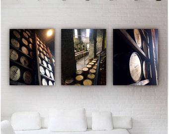 whiskey barrels, bourbon barrel, woodford reserve, woodford, oak barrels, bourbon, whiskey, bourbon whiskey, kentucky, barrel, Canvas Set