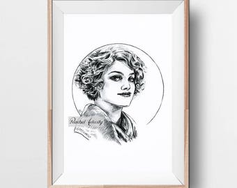 Queenie Goldstein (Alison Sudol) from Fantastic Beasts and Where to Find Them - Original Drawing ART PRINT