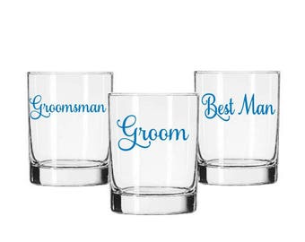 Groom Decal, Groomsman Decals, Wedding Party Decals, Wedding Cup Decal, Groomsman Gifts, Beer Stein Decal, Groom Gift, Wedding Tumbler Decal