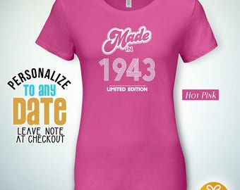 Made in 1943, 74th birthday gifts for Men, 74th birthday gift, 74th birthday tshirt, gift for 74th Birthday